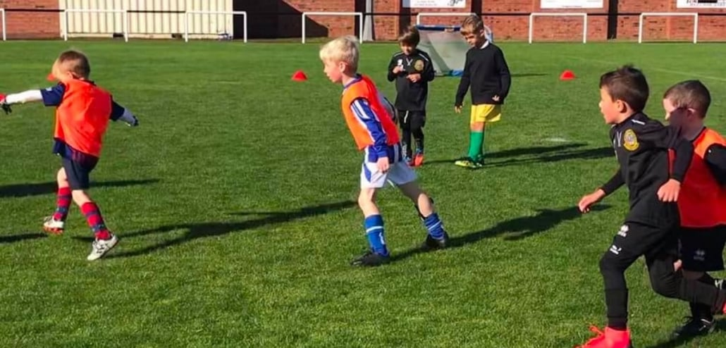 Dunbar Unt. Colts F.C. Boys playing football
