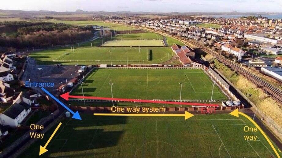 Dunbar United Colts - Grass Training One Way System